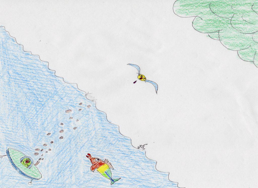 Die schwimmende Untertasse